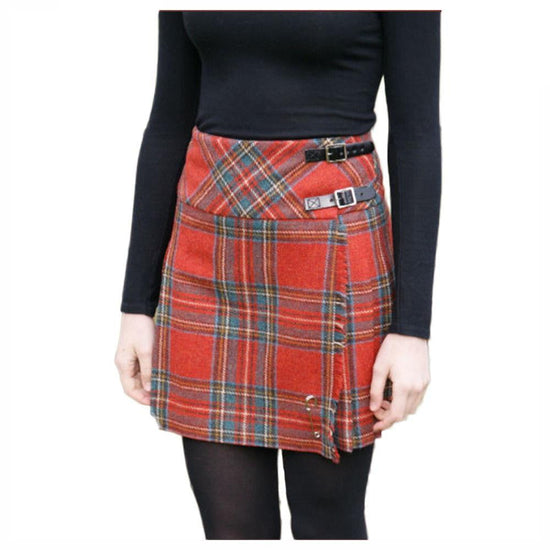 Shetland Wool Ladies Billie Kilt - Isobel - Royal Stewart
