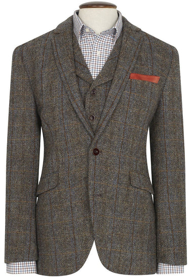 Mens Sumburgh Harris Tweed Wool Blazer Jacket