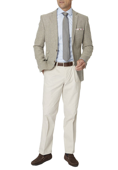 Oatmeal Riviera Tailored Fit Jacket by Brook Taverner