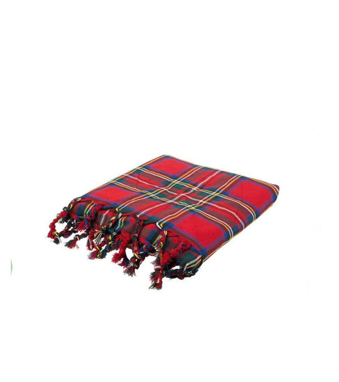Deluxe Polyviscose Tartan Fly Plaid - Royal Stewart
