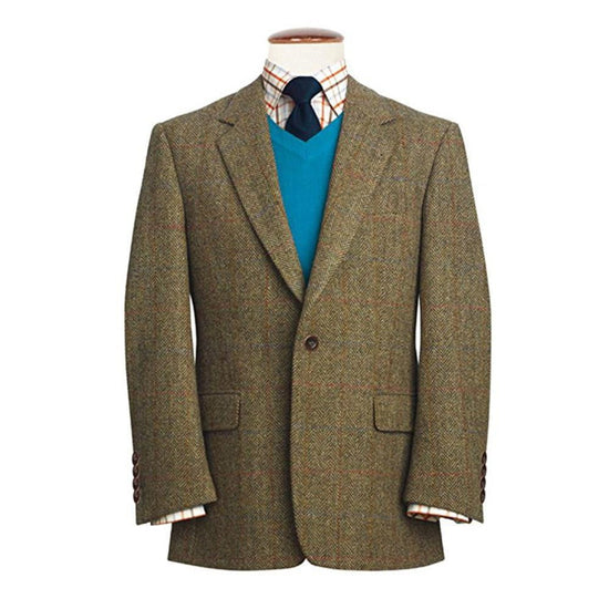Mens Exclusive Genuine Scottish Harris Tweed Wool Jacket - Stromay