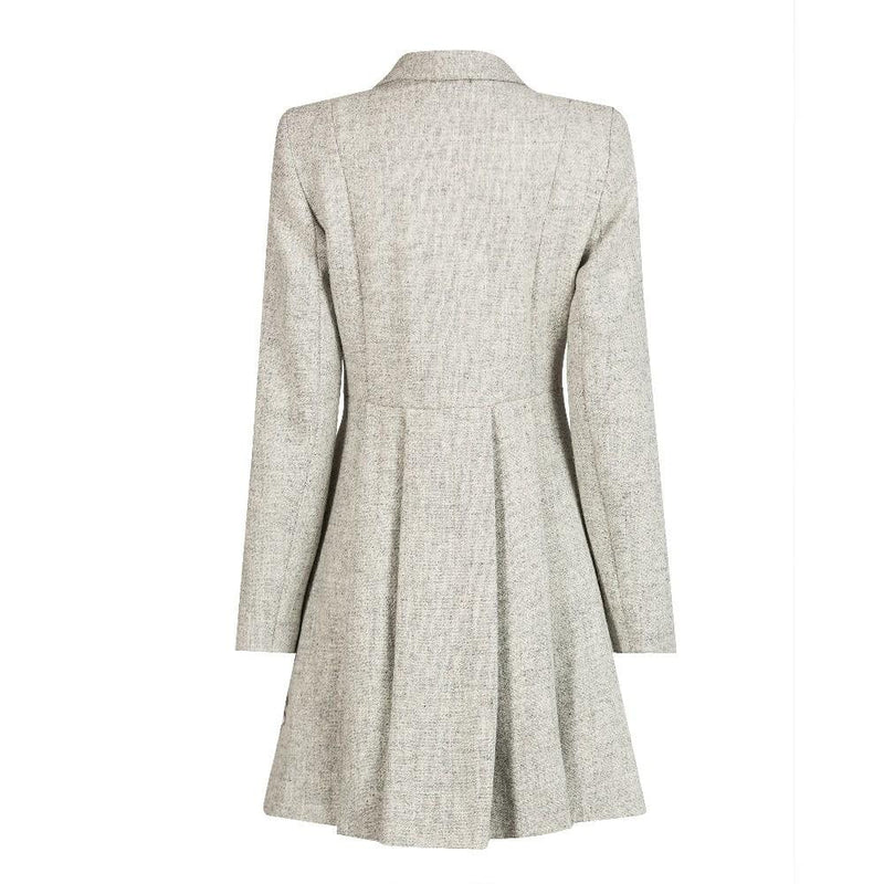 Ladies Harris Tweed Jacket - Light Grey Zoe