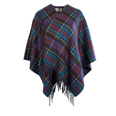 Ladies Tartan Cashmere Mini Cape - 8 Colours