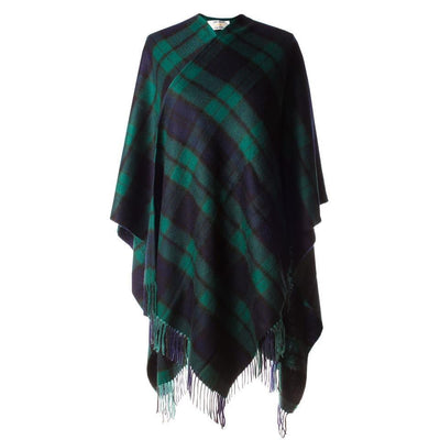 Ladies Tartan Cashmere Full Cape - 7 Colours