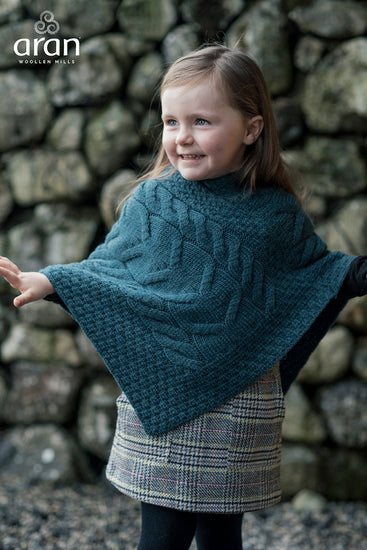 Children's Wool Poncho by Aran Mills - 6 Colours