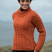 Ladies Shaped Crew Neck Sweater by Aran Mills - 2 Colours