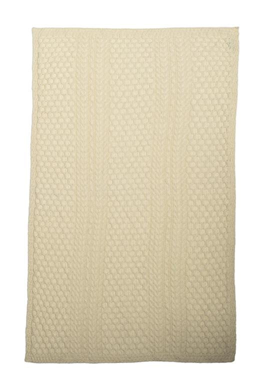 Cable/Honeycomb Knit Merino Wool Blanket/Throw - 3 Colours