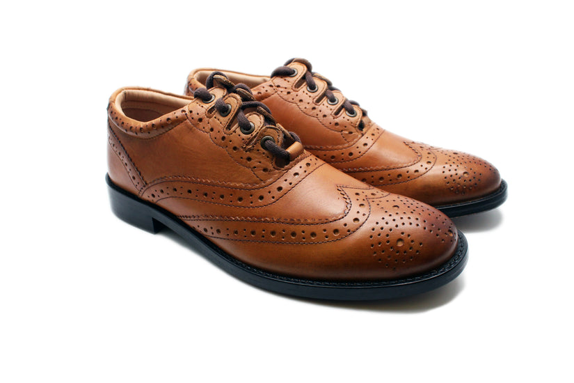 Luxury Ghillie Brogues - Tan