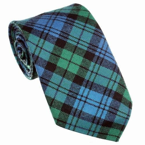 100% Wool Tartan Neck Tie - Campbell Ancient