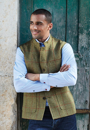 Mens Harris Tweed Gilet - Dalbeg - Coming Soon For 2020