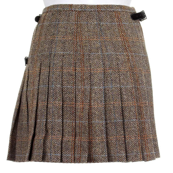 Ladies Harris Tweed Kilt - Bronwyn Style - Hamish - Instock