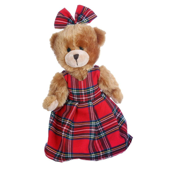 Hand Made Plush Bella Teddy Bear in 500 Tartans - Made to Order