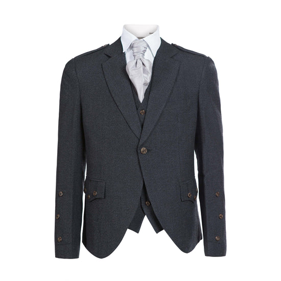 Charcoal Tweed Crail Jacket with 5 Button Vest - Clearance