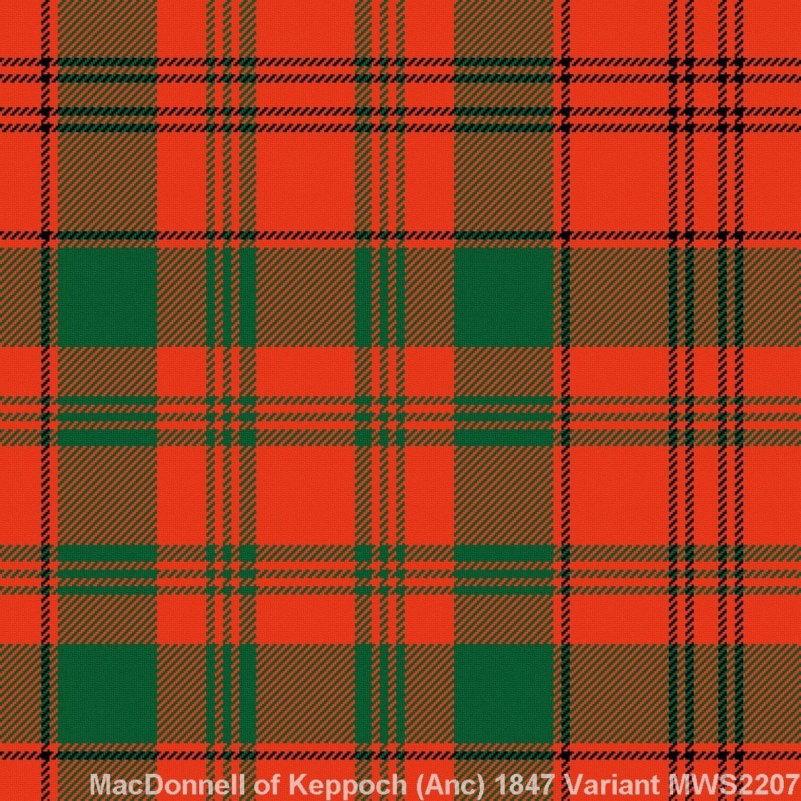 MacDonnell of Keppoch Ancient – 1847 Variant