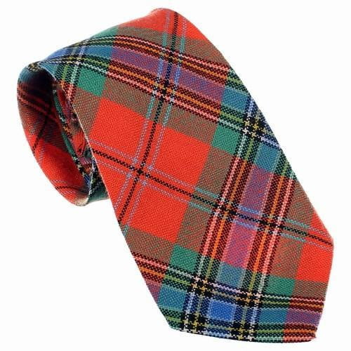 100% Wool Tartan Neck Tie - MacLean of Duart Ancient
