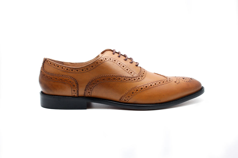 Luxury Ghillie Day Brogues - Tan