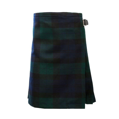 Kids Deluxe Polyviscose Kilt in Black Watch