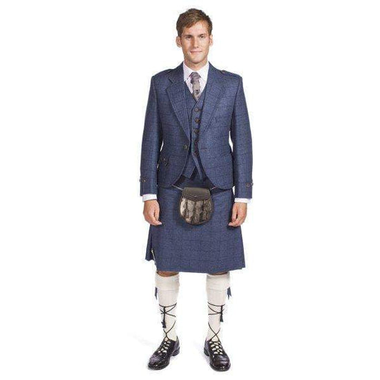 Complete Prestige Tweed Argyle Jacket and Kilt Outfit Hand Made to Order