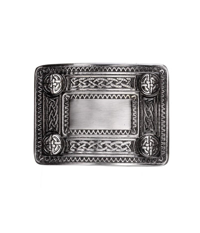 Celtic Knot Belt Buckle - Antique Finish
