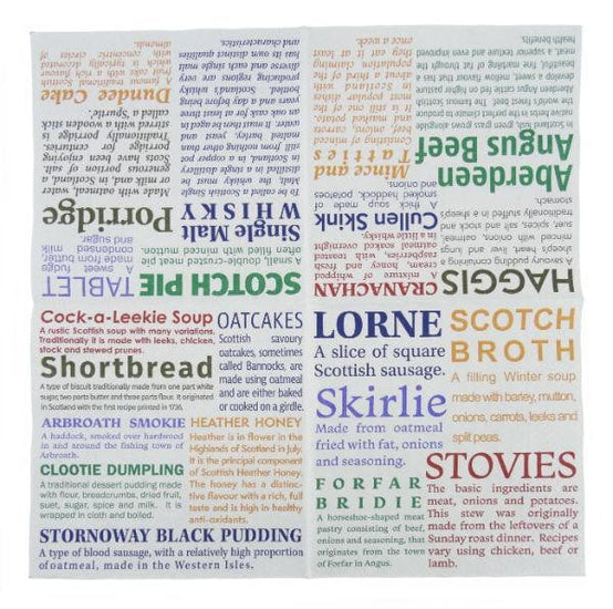 Scottish Delicacies (Pack of 20) Napkins Serviettes