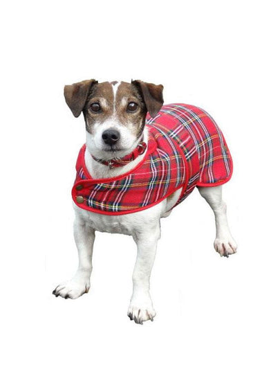 Traditional Deluxe Dog Coat In Royal Stewart