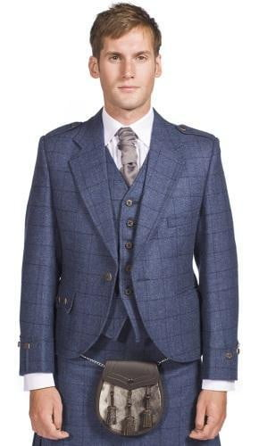 Luxury Argyle Tweed Kilt Jacket & 5 Button Waistcoat Made to Order