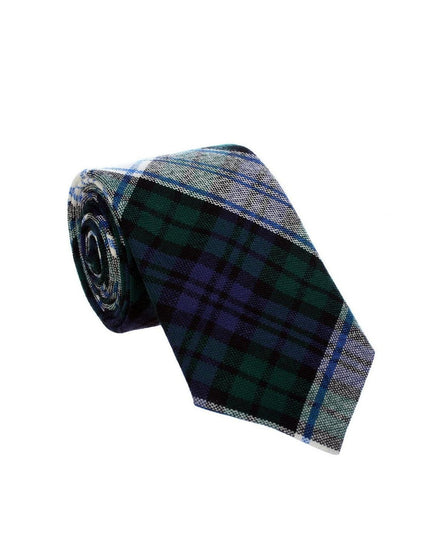 100% Wool Tartan Neck Tie - Black Watch Modern Dress