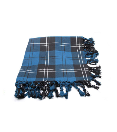 Deluxe Polyviscose Tartan Fly Plaid - Ramsay Blue