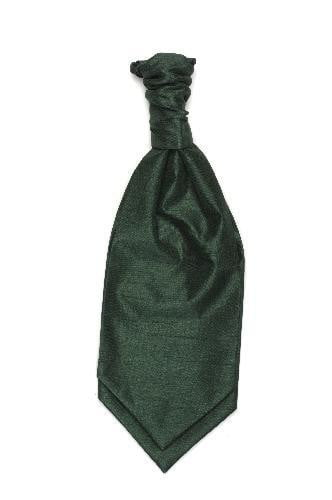 Polyester Shantung Ruche Tie - Bottle Green
