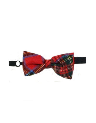 100% Wool Tartan Bow Tie - Stewart Royal Modern