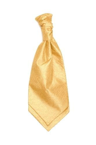 Polyester Shantung Ruche Tie - Champagne