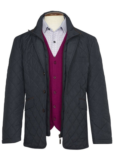 Cosia Diamond Quilted Casual Blazer by Brook Taverner