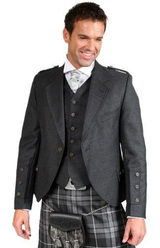 Luxury Crail Tweed Kilt Jacket & 5 Button Waistcoat, Made to Order