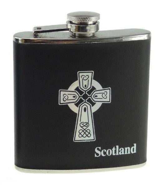 6oz Celtic Cross Design Hip Flask