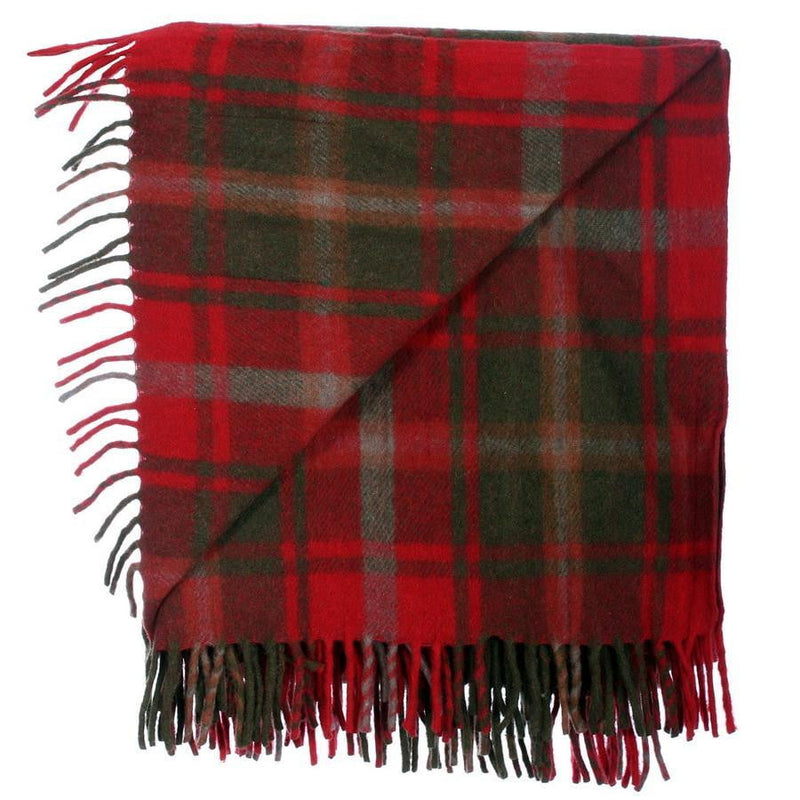Wool Tartan Rug - Dark Maple