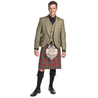 Luxury Tweed Estate Jacket Outfit with 8 yd Heavyweight Kilt Hand Made to Order