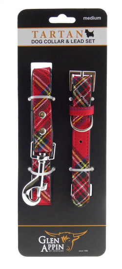 Royal Stewart Dog Lead Collar Set