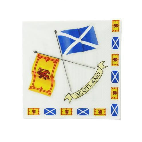 Scottish Flags Napkins Serviettes (Pack of 20)