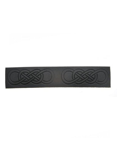 Embossed Celtic Link Velcro Kilt Belt