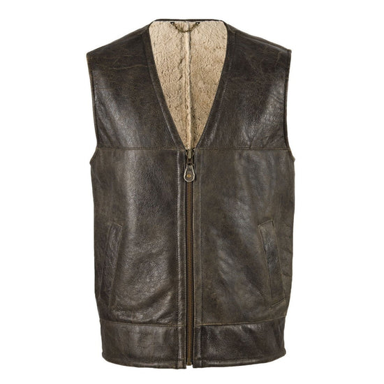 New Sheepskin Aviator Men's Leather Coat - Giles - Chocolate Forest