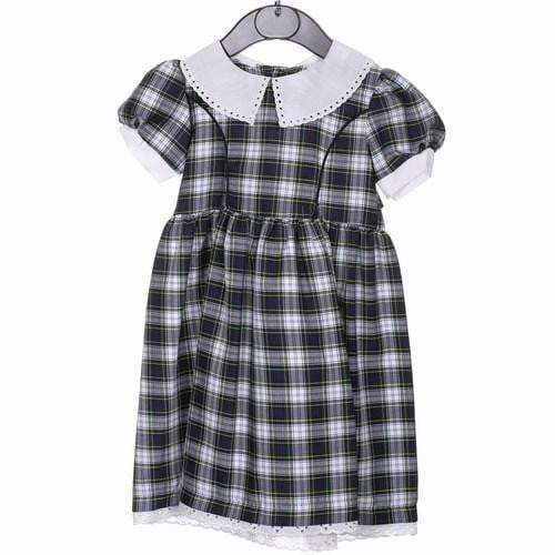 Cotton Dress without bow, Dress Gordon Tartan