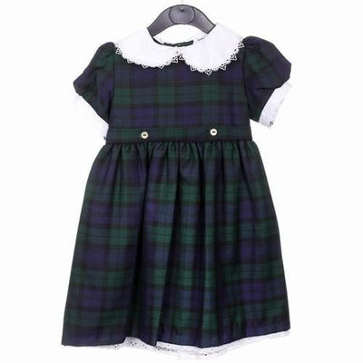 Girls Tartan Dress, Black Watch