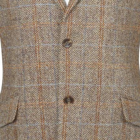 Mens Lightweight Scottish Harris Tweed Wool Blazer Jacket - Hamish - Reduced