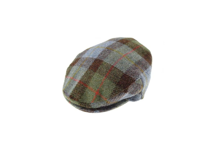 Harris Tweed Ladies One Size Cap - Blue/Green Check