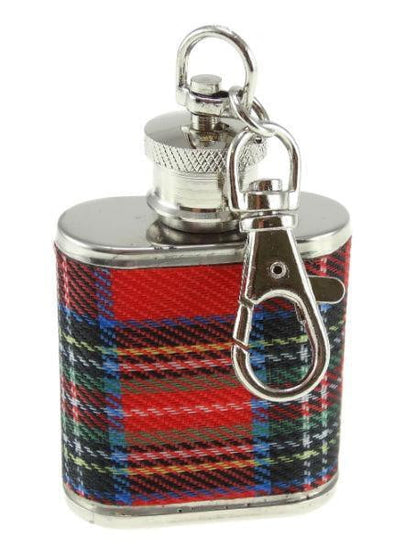 1oz Royal Stewart Hip Flask Keyring