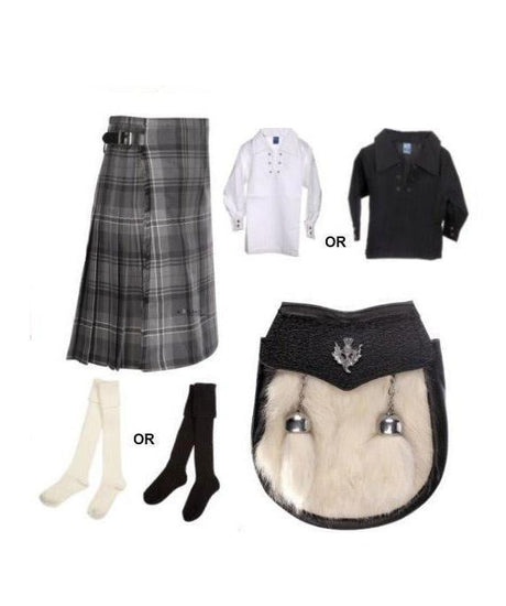 Childrens 4 Piece Kilt Outfit - 4 Tartans