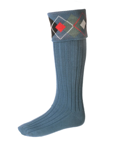 Highland Argyle Hose - Ancient Blue