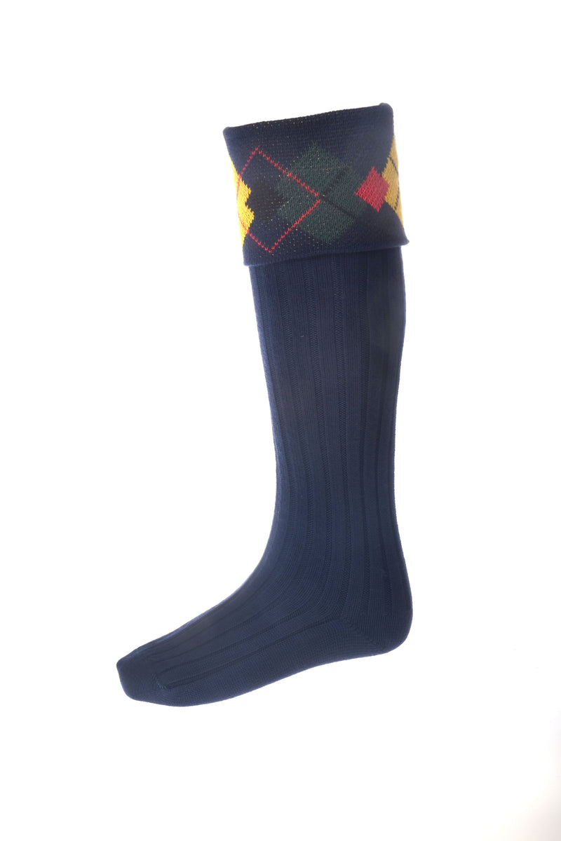 Highland Argyle Hose - New Navy