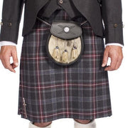Men's 8 Yard Kilt Hebridean 100% Wool 13oz Mediumweight Tartan, Traditionally Hand Stitched