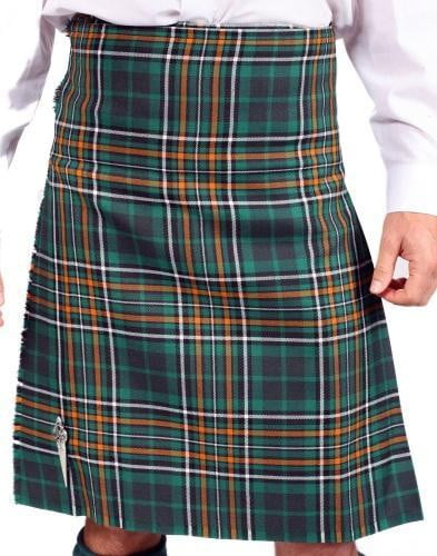 Men's 5 Yard Irish County 100% Wool 13oz Mediumweight Tartan Traditional Hand Made Kilt